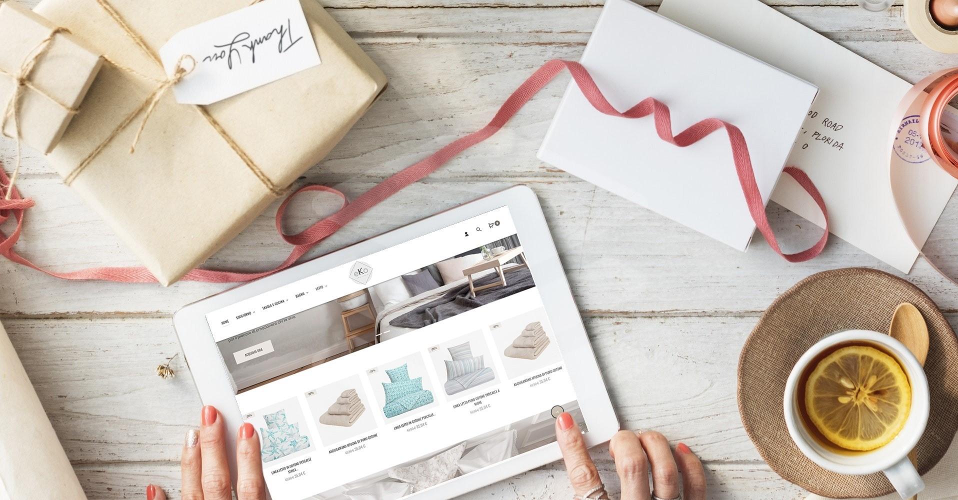 E-commerce su tablet